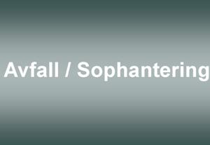 Avfall / Sophantering